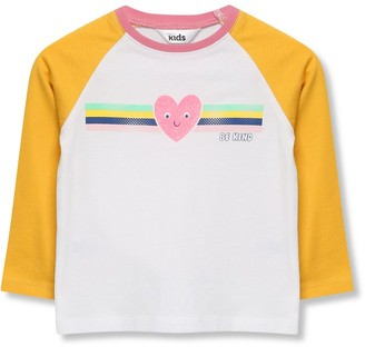 M&Co Love heart slogan raglan t-shirt (9mths-5yrs)