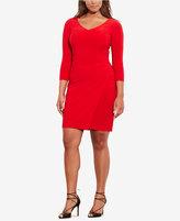 Lauren Ralph Lauren Plus Size Pleated Jersey Dress