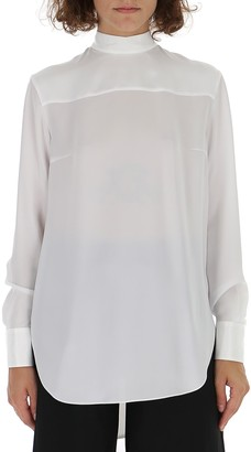 Thom Browne Back Bow Detail Blouse