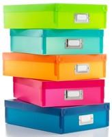Whitmor Document Boxes, Set of 5