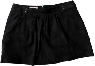 Bel Air Black Suede Skirt for Women