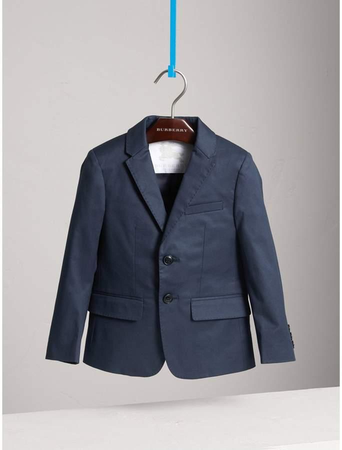 Burberry Tailored Stretch Cotton Blazer