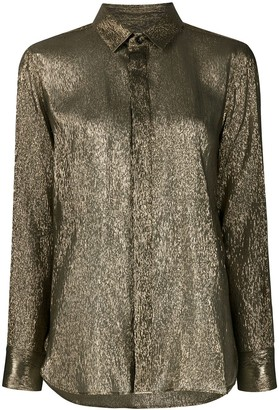 Saint Laurent Lame Silk Shimmering Shirt
