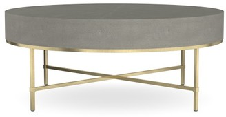 Williams-Sonoma Faux Shagreen Round Coffee Table