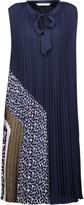Diane von Furstenberg Anabel plissé-chiffon dress