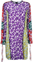 MSGM printed panel shift dress - women - Silk - 42