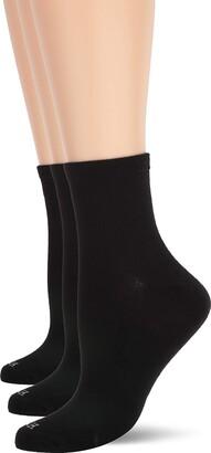 Hue Women's Super Soft Cropped Sock 3 Pk