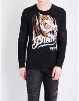 Philipp Plein Blood Tiger Cotton-jersey Sweatshirt