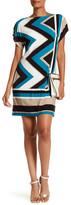Sandra Darren Colorblock Zigzag Shift Dress
