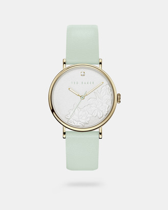 Ted Baker PATERIA Embossed dial leather strap watch