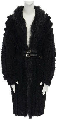 Roberto Cavalli Black Fur Coat for Women
