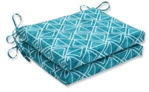 Pillow Perfect Lanova Peacock Squared Corners Seat Cushion, Set of 2