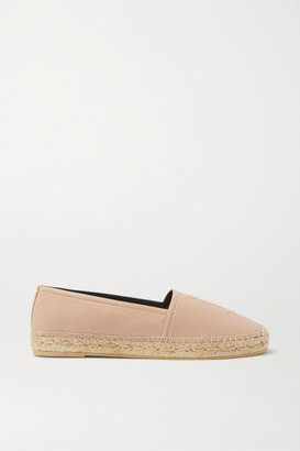 Saint Laurent Logo-embossed Textured-leather Espadrilles - Neutral