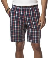 Chaps Men's Classic-Fit Plaid Poplin Flat-Front Shorts