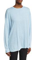 eskandar Round-Neck Knit Silk Top