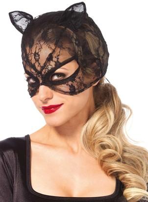 Leg Avenue Women's Black Lace Cat Mask One Size
