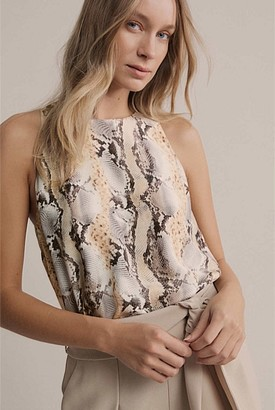 Witchery Print Silk Tank