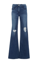 3x1 Bell Bottomed Jeans with Ripped Patches