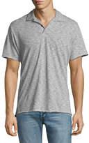 Rag & Bone Owen Striped Cotton-Linen Polo Shirt