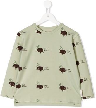 Tiny Cottons beetroot print T-shirt