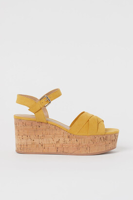 H&M Platform Sandals - Yellow