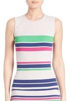 Tanya Taylor Striped Rib-Knit Tank Top