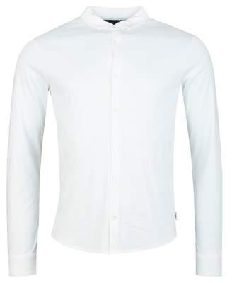 Giorgio Armani Slim Fit Button Through Shirt Colour: NAVY, Size: LARGE