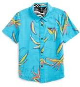 Volcom Toddler Boy's Motel Floral Short Sleeve Woven Shirt