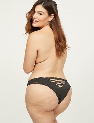 Lane Bryant Strappy-Back Tanga Panty