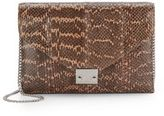 Loeffler Randall Lock Pebbled Leather Clutch