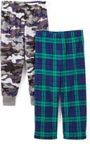 Komar Kids Gray Camo & Plaid Pajama Pants Set - Boys