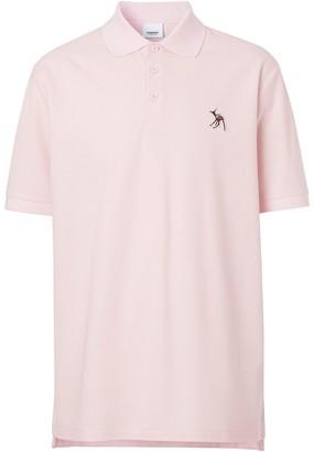Burberry Deer Applique Polo Shirt