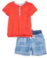 Splendid Infant Boy's Henley T-Shirt & Chambray Shorts