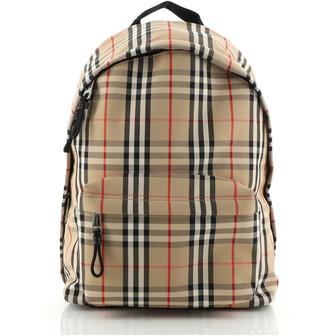 Burberry Jett Backpack Vintage Check Canvas Medium