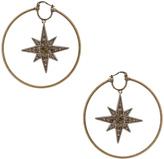 Roberto Cavalli Star Hoop Earrings in Gold & Smoky