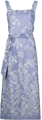 Natori Belted Foliage-Print Dress