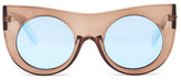 MinkPink Women&s Double Cross Polycarbonate Frame Sunglasses