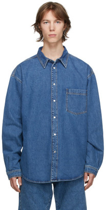 Vetements Blue Washed Denim Shirt