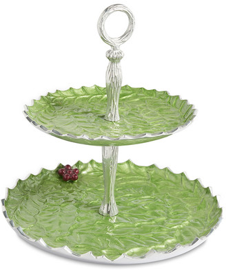 """Julia Knight Holly Sprig 11.5"""" Two-Tiered Server"""