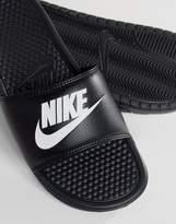 Nike Benassi Jdi Sliders In Black 343880-090