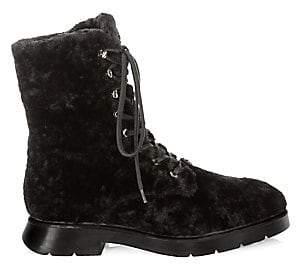 Stuart Weitzman Women's McKenzee Chill Shearling & Leather Boots