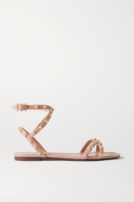 Valentino Garavani Rockstud Flair Leather Sandals - Antique rose