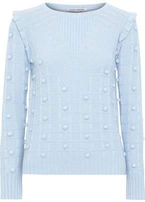 Autumn Cashmere Pompom-embellished Textured-knit Sweater