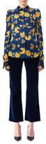Altuzarra Marlowe Floral Dot Satin-Trim Shirt
