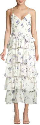 Jay Godfrey Hader Tiered Midi Dress