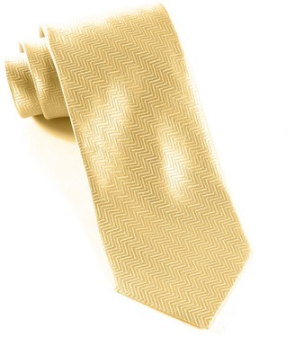 Tie Bar Herringbone Light Champagne Tie