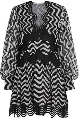 Stella McCartney Kinley Silk Puff-Sleeve Dress