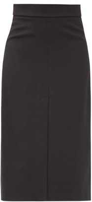 RED Valentino High-rise Front-slit Twill Pencil Skirt - Black