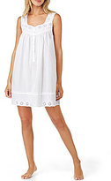 Eileen West Floral Eyelet-Embroidered Chemise