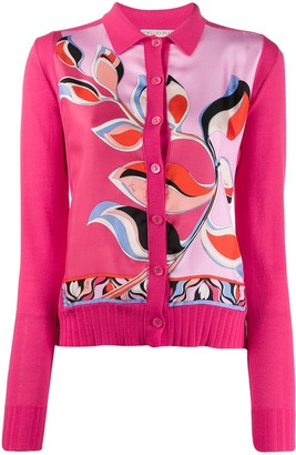 Emilio Pucci Abstract Print Panel Cardigan